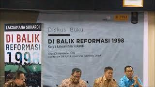 Diskusi Buku: Di Balik Reformasi 1998, Laksamana Sukardi