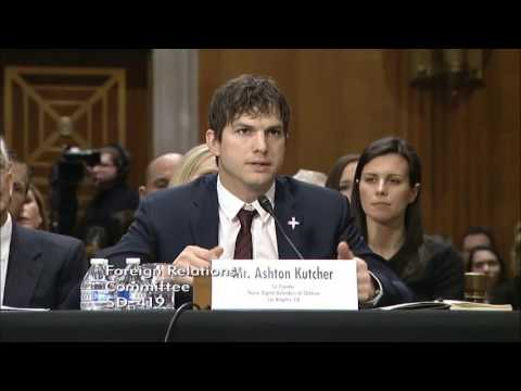 Rubio discusses fighting human trafficking with Ashton Kutcher