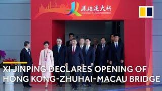 Chinese President Xi Jinping declares Hong Kong-Zhuhai-Macau Bridge open