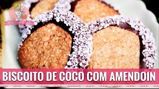 BISCOITO DE COCO COM AMENDOIM SEM FARINHA