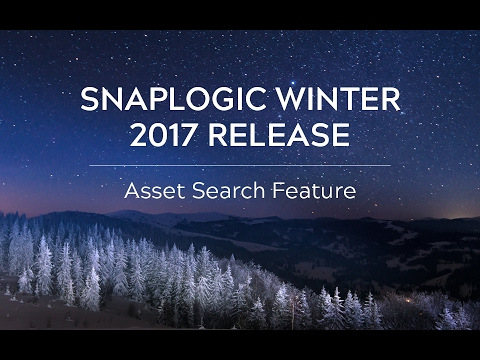 SnapLogic Winter 2017: Asset Search Feature