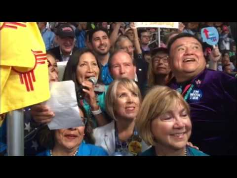 Democratic delegation from New Mexico casts votes