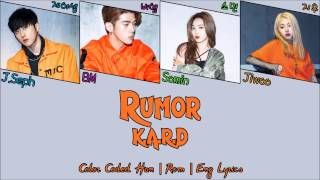 K.A.R.D - Rumor [Color Coded Han|Rom|Eng Lyrics]