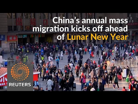 Lunar New Year mass migration kicks off in China