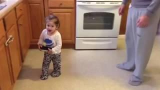 Layla dancing to netsky