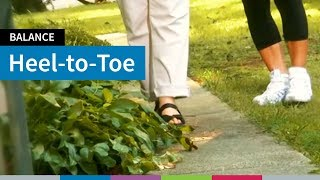 Go4Life Exercise--Heel-to-Toe Walk