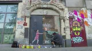 Ernest Zacharevic in Brussels