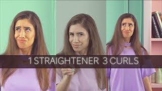 1 Straightener 3 Curls | Hair Curling Hacks