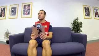 Santi Cazorla Funny English Interview - Arsenal Funny Moments