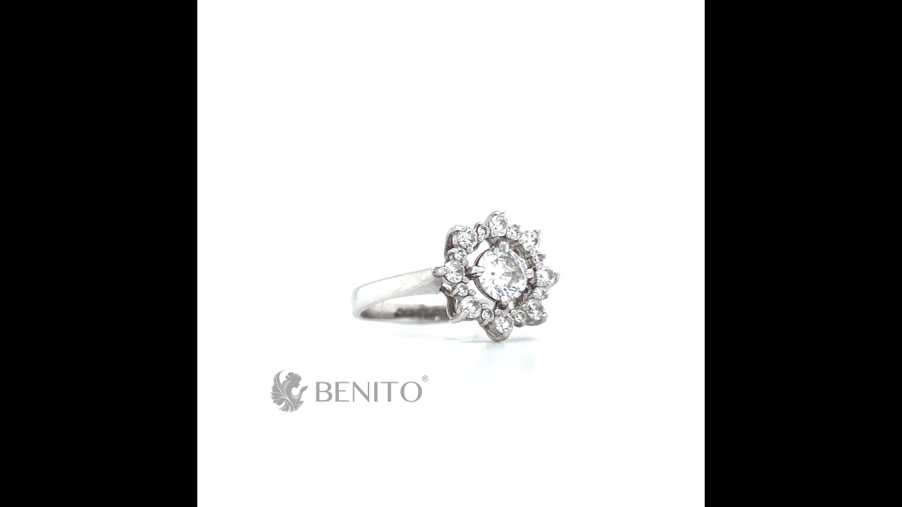 Valentina Ring White Zircon Stones