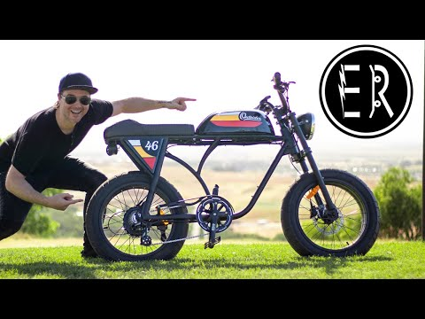 RETRO e-bike with SERIOUS MOTO VIBES! Michael Blast - Outsider electric bike review 2020