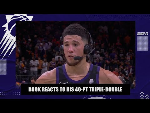 Devin Booker reacts to his 40-point triple-double in Game 1 of Suns vs. Clippers | NBA on ESPN