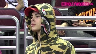 Hayes Grier & Kyle Massey Hang Out At The Power 106 Basketball Game 9.12.16