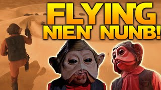 Star Wars Battlefront: HOW TO FLY WITH NIEN NUNB! [Glitch]