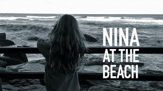 Nina at the beach