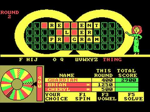 Wheel of Fortune: New Third Edition (GameTek, IJE) (MS-DOS) [1988]