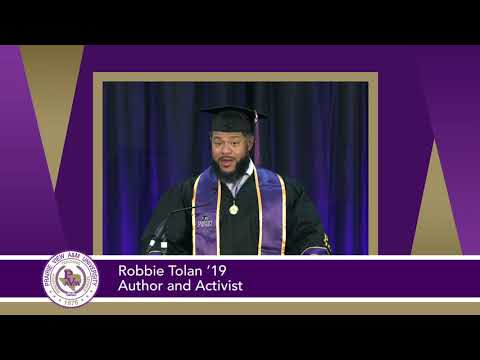 Summer 2020 Virtual Commencement: Robbie Tolan's Address