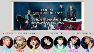 "MONSTA X (몬스타엑스) ""너만 생각해 (All I Do)"" [COLOR CODED] [ROM|SUBESPAÑOL LYRICS]"