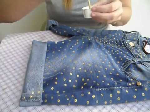 Come decorare un paio di jeans  9836ba53279