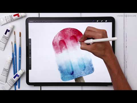 Paint a Watercolor Popsicle in Procreate