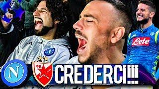 CREDERCI!!! NAPOLI 3-1 STELLA ROSSA | LIVE REACTION SAN PAOLO CHAMPIONS LEAGUE 4K