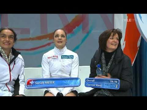 Sarah Meier - Short Program - 2011 European Figure Skating Championships