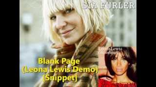 Blank Page (Leona Lewis Demo) [Snippet]