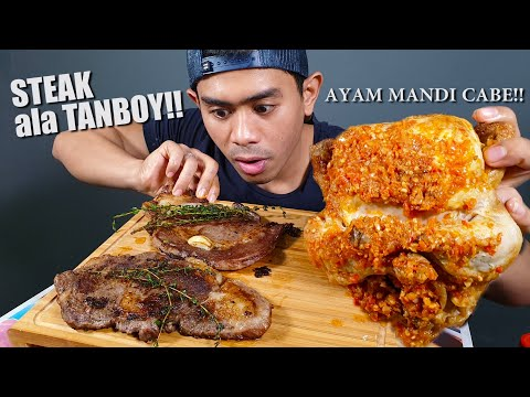 Download Video MUKBANG Special IDUL ADHA | STEAK PAKE 1 EKOR AYAM MANDI CABE