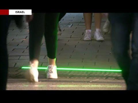 Tel Aviv lights crosswalk to assist phone-distracted pedestrians
