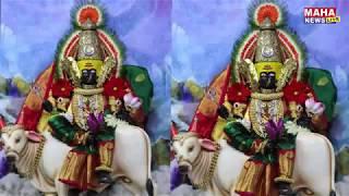 श्री अंबाबाई देवीची नवरात्रीच्या पहिल्या दिवशी शैलपुत्री रूपात बांधण्यात आलेली पुजा.