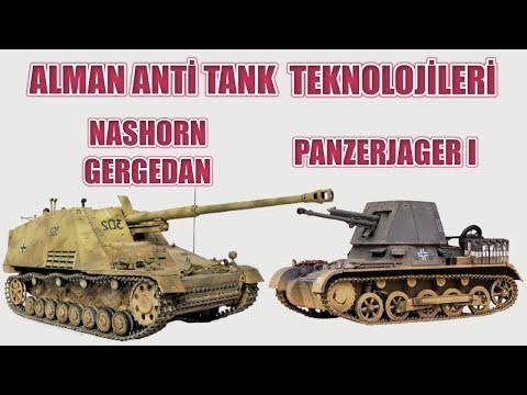 PANZERJAGER I VE NASHORN GERGEDAN ALMAN TANK AVCISI TEKNOLOJİLERİ 2. dünya savaşı tarihi