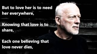 Here, There and Everywhere  DAVID GILMOUR (with lyrics)