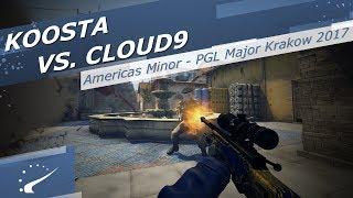 koosta vs. Cloud9 - Americas Minor - PGL Major Krakow 2017