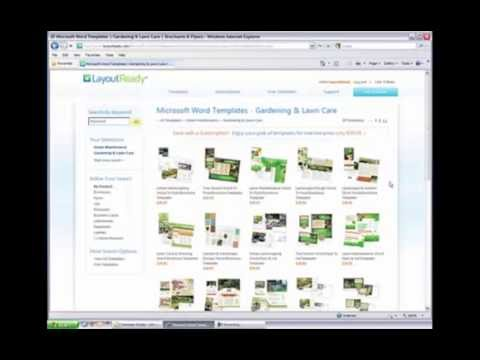 Searching for Word and Publisher Templates on LayoutReady.com