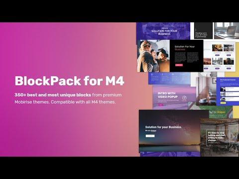 Mobirise BlockPack M4