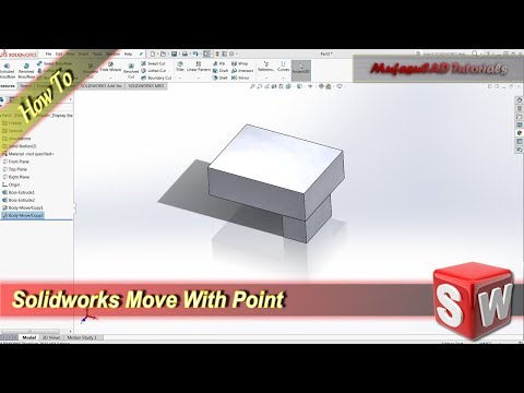 Solidworks Move 3D Object With Point Mate Basic Tutorial