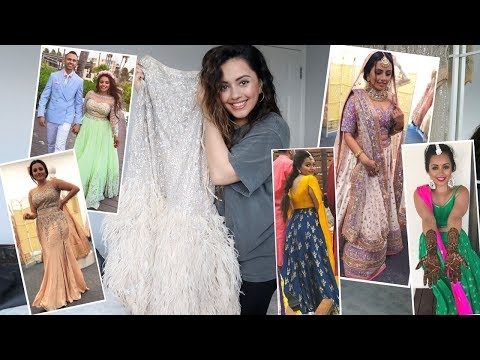 MY DESTINATION INDIAN WEDDING OUTFITS | Ekta Solanki, Aastha Narang, Este Couture, House of Masaba
