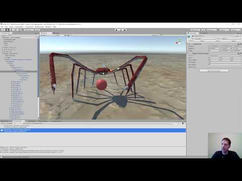 Unity game development - giant spider crab integration - Twitch stream part 15