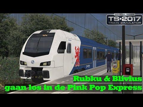 Rubku  Blivius gaan los in de Pink Pop Express  Train Simulator 2017