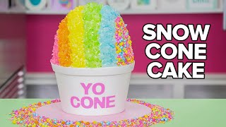 GIANT SNOW CONE CAKE!! | How To Cake It width=