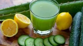 jus de concombre + citron pour maigrir