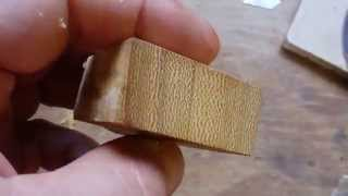African Teak Iroko Close Look Linwax Finish