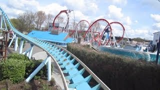 Shockwave Front Row on-ride HD POV Drayton Manor
