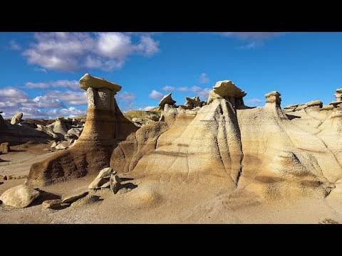 The Enchanted Fairyland of Bisti Wilderness, New Mexico, USA in 4K Ultra HD