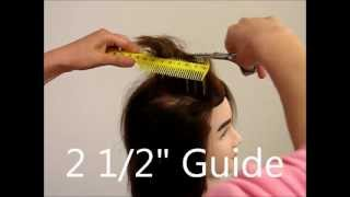 How To Cut Men S Layer Undercut Hair Tutorial Combpal Scissor Over Comb Guide Video 3 You