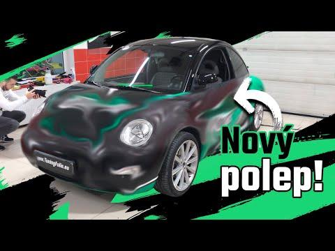 Projekt VW Beetle 13 - Máme nový polep auta!
