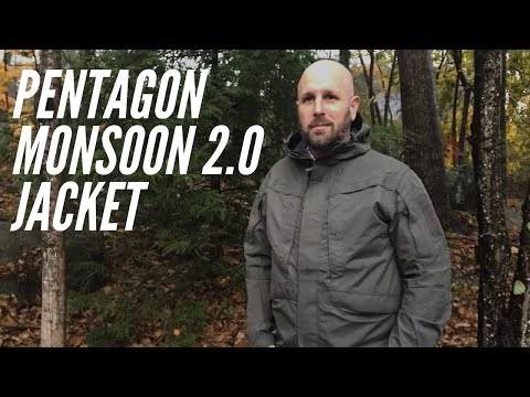 Pentagon Monsoon 2.0 Jacket: Rain Shell, Outer Layer for the Cool Weather