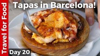 Flying on Lufthansa and First Tapas in Barcelona!