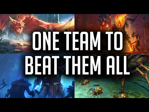 RAID: Shadow Legends | One team to beat them all! No voids, no legendaries!