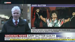 Gary Glitter Found Guilty Of Sex Offences Against Underage Girls